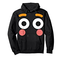 Flushed Face Emoji Easy Lazy Group Halloween Costume Shirts Hoodie Black