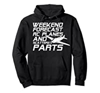 Rc Plane T-shirt For Guys Rc Planes And Scattered Parts Hoodie Black