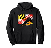 State Birdorable Of Maryland Cute Baltimore Oriole Shirts Hoodie Black
