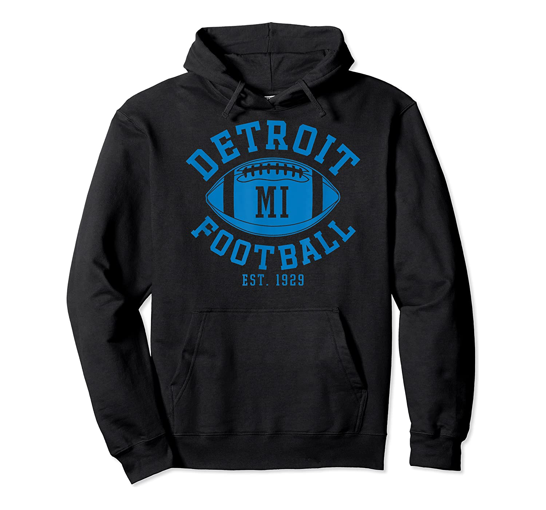 Detroit Football Vintage Michigan Retro Lion Gift Shirts Unisex Pullover Hoodie