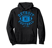 Detroit Football Vintage Michigan Retro Lion Gift Shirts Hoodie Black