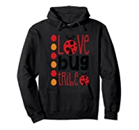 Love Bug Tribe Red Lady Bug Girls Squad Shirts Hoodie Black