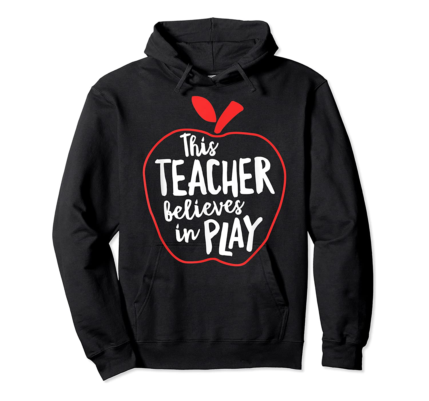 This Tea Believes In Play Tea Shirt With Apple T-shirt Unisex Pullover Hoodie