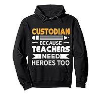 School Custodian Funny T-shirt Hoodie Black