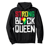 Strong Black Queen African American Black History Month Girl T-shirt Hoodie Black