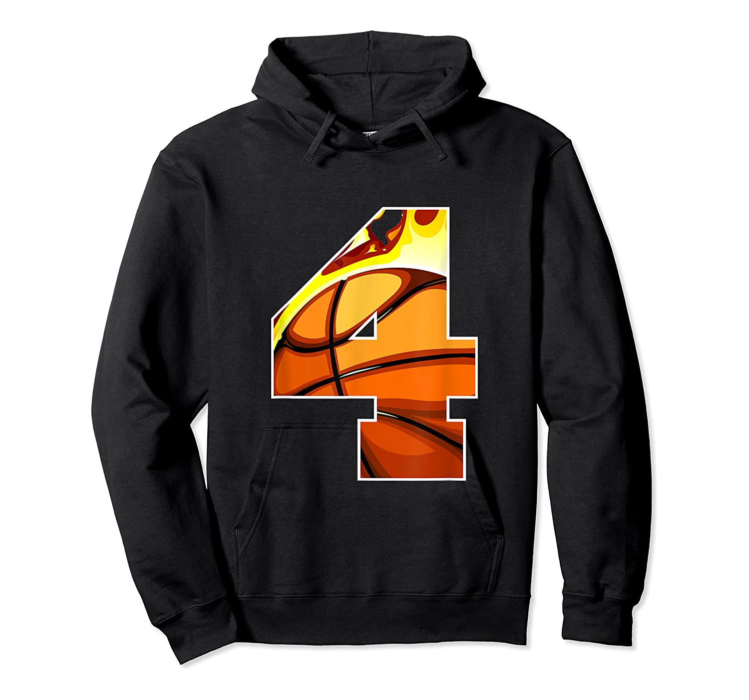 Number 4 Basketball Gift T-shirt Unisex Pullover Hoodie