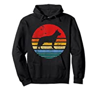 Cattle Dog Retro Sunset Distressed Mom Dad Dog Lover Gift Shirts Hoodie Black