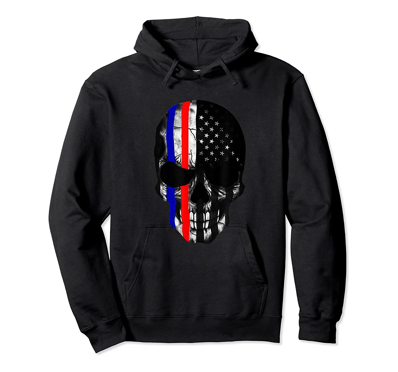 Patriot Skull Usa Flag Halloween Hunter Us Skeleton Head T-shirt Unisex Pullover Hoodie