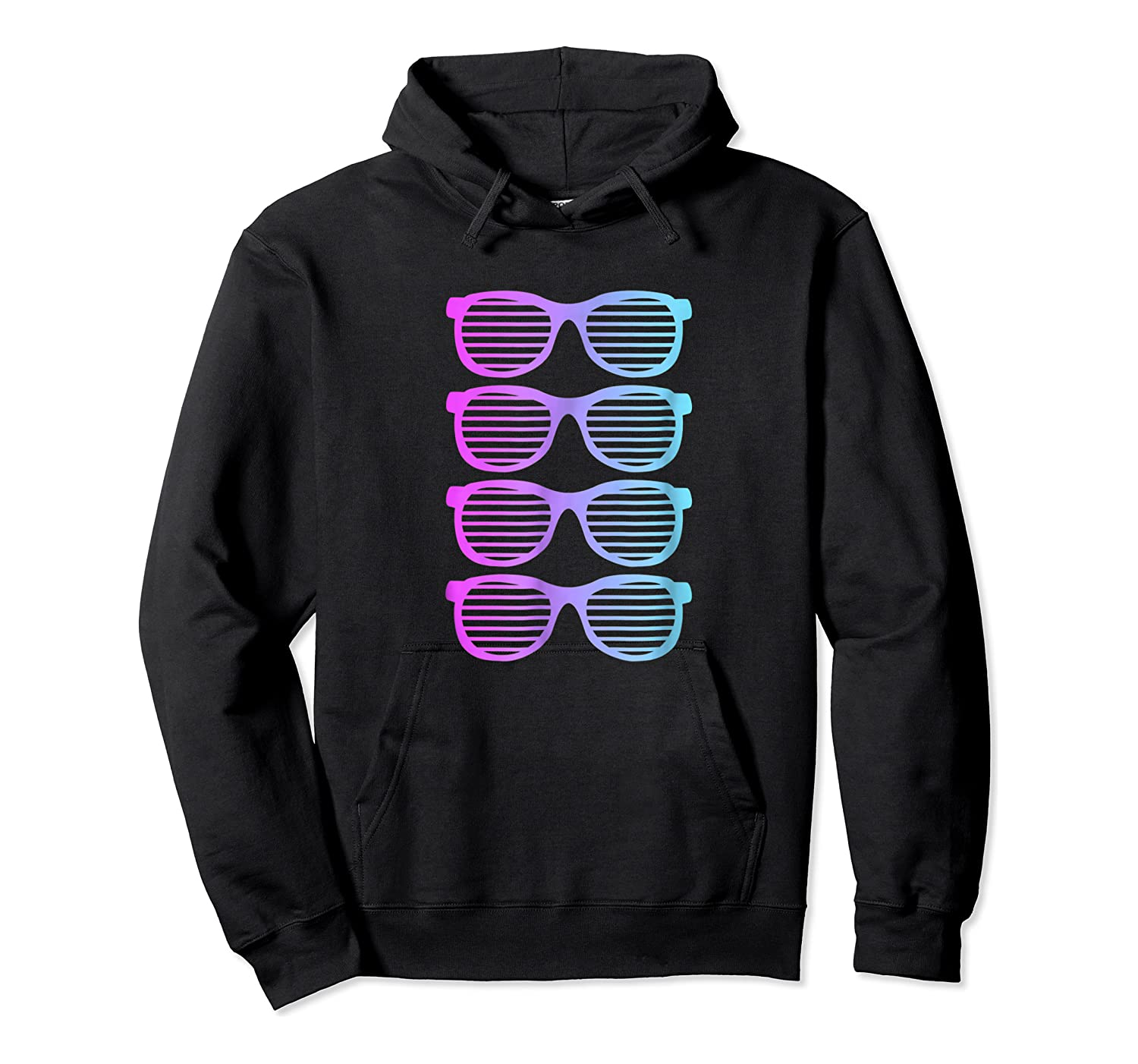 Pink Blue Blended Shades Summer Novelty Shirts Unisex Pullover Hoodie
