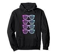 Pink Blue Blended Shades Summer Novelty Shirts Hoodie Black