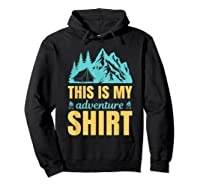 Hiking Outdoor Lover Mountains Hiker Shirts Hoodie Black