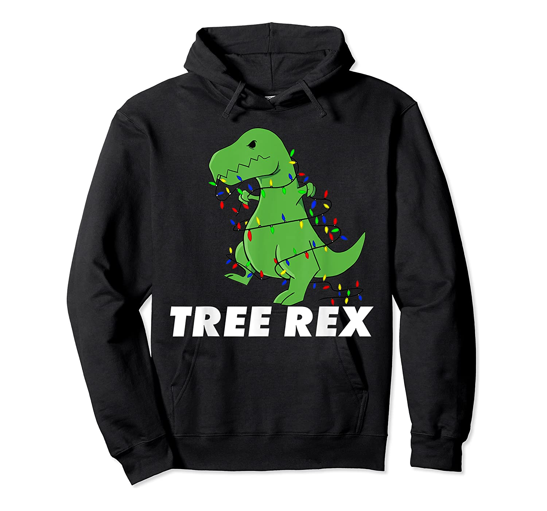 Tree Rex Christmas T Rex Dinosaur Christmas Gift Shirts Unisex Pullover Hoodie