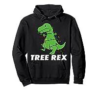 Tree Rex Christmas T Rex Dinosaur Christmas Gift Shirts Hoodie Black