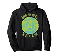 Earth Day Saving The World One Day At A Time Shirts Hoodie Black