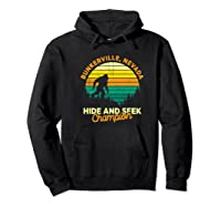 Retro Bunkerville, Nevada Big Foot Souvenir Shirts Hoodie Black