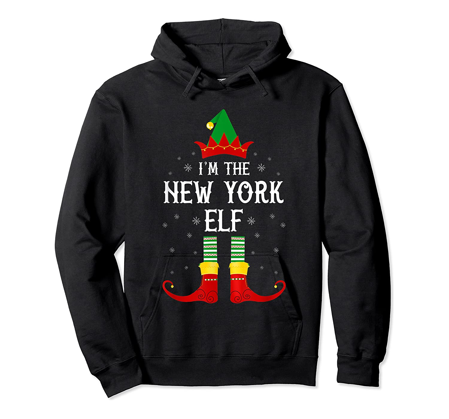 I'm The New York Elf Family Group Christmas T-shirt Unisex Pullover Hoodie