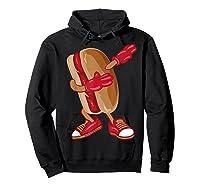 Dabbing Hot Dog Shirt   Cool American Hot Dog Sandwich Gift Hoodie Black