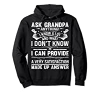 Ask Grandpa Anything Fathers Day Funny Gift T-shirt Hoodie Black