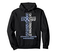 Stomach Cancer Awareness - I Can Do All Things T-shirt Hoodie Black