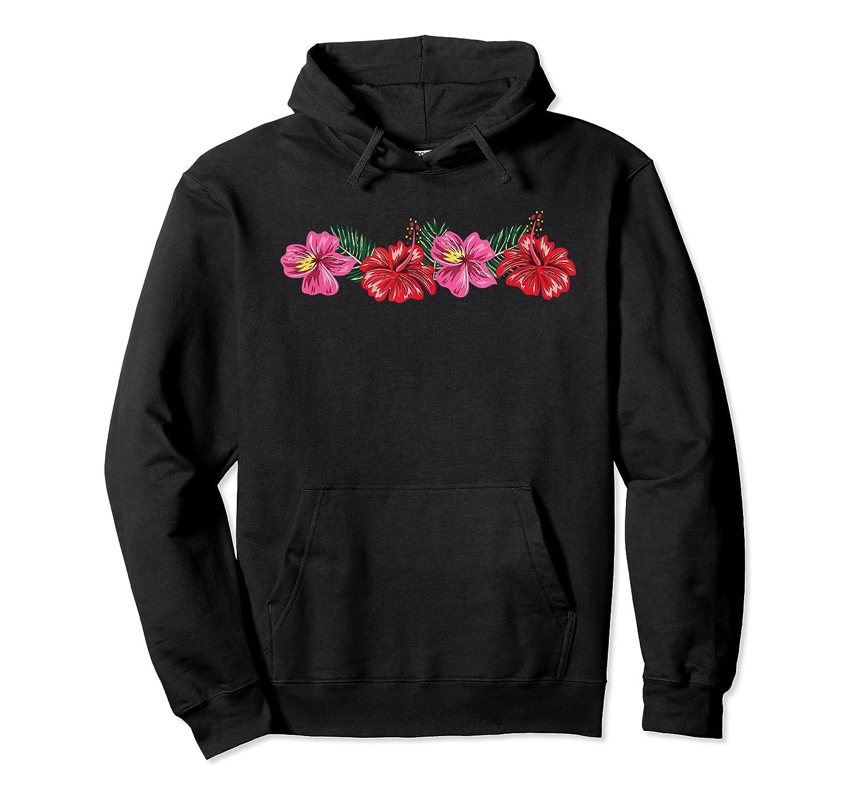 Hawaiian Hibiscus Flowers Aloha Vacation Shirts Unisex Pullover Hoodie