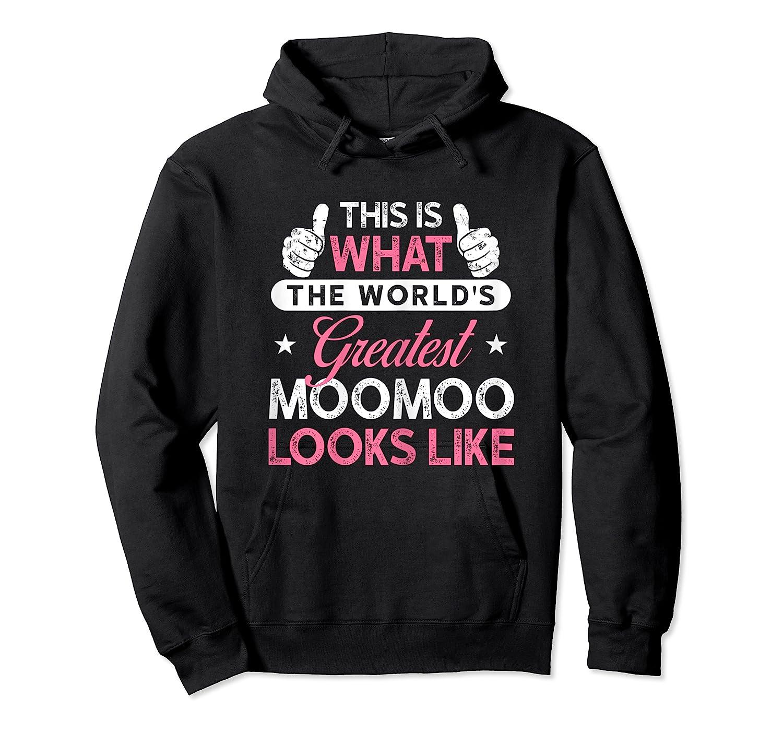 Moomoo Shirt Gift: World's Greatest Moomoo T-shirt Unisex Pullover Hoodie