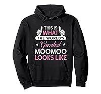 Moomoo Shirt Gift: World\\\'s Greatest Moomoo T-shirt Hoodie Black