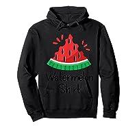 Watermelon Shirt - Cute Fun Of Summer Watermelon T-shirt Hoodie Black