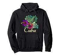 Cuba Beach Tropical Travel Surf Gift Shirts Hoodie Black