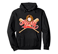 Baseball Player Rudy Birthday Boy T-shirt \\\'s Name Hoodie Black