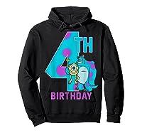 Pixar Monsters Inc Mike Sully Happy 4th Birthday Shirts Hoodie Black
