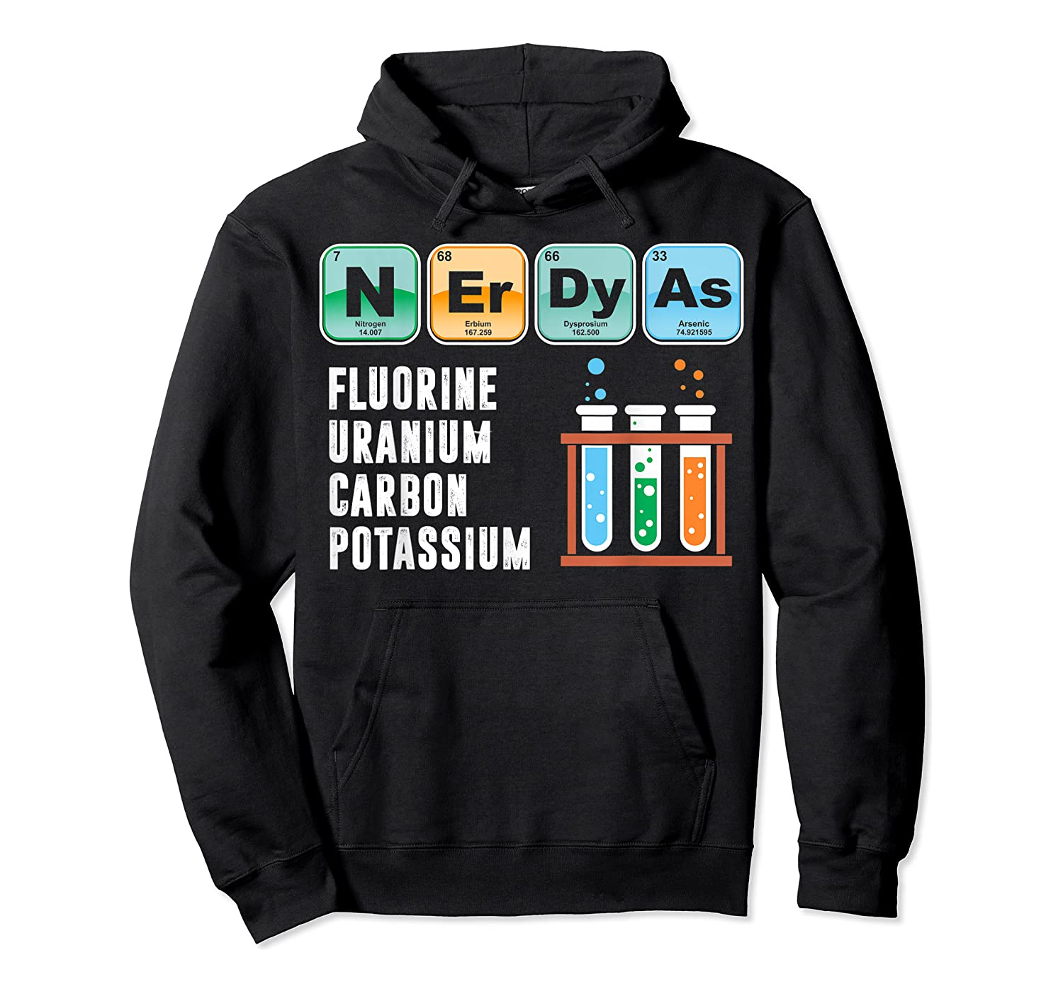Nerdy As F | Funny Chemistry Science Tea Student T Shirt Unisex Pullover Hoodie