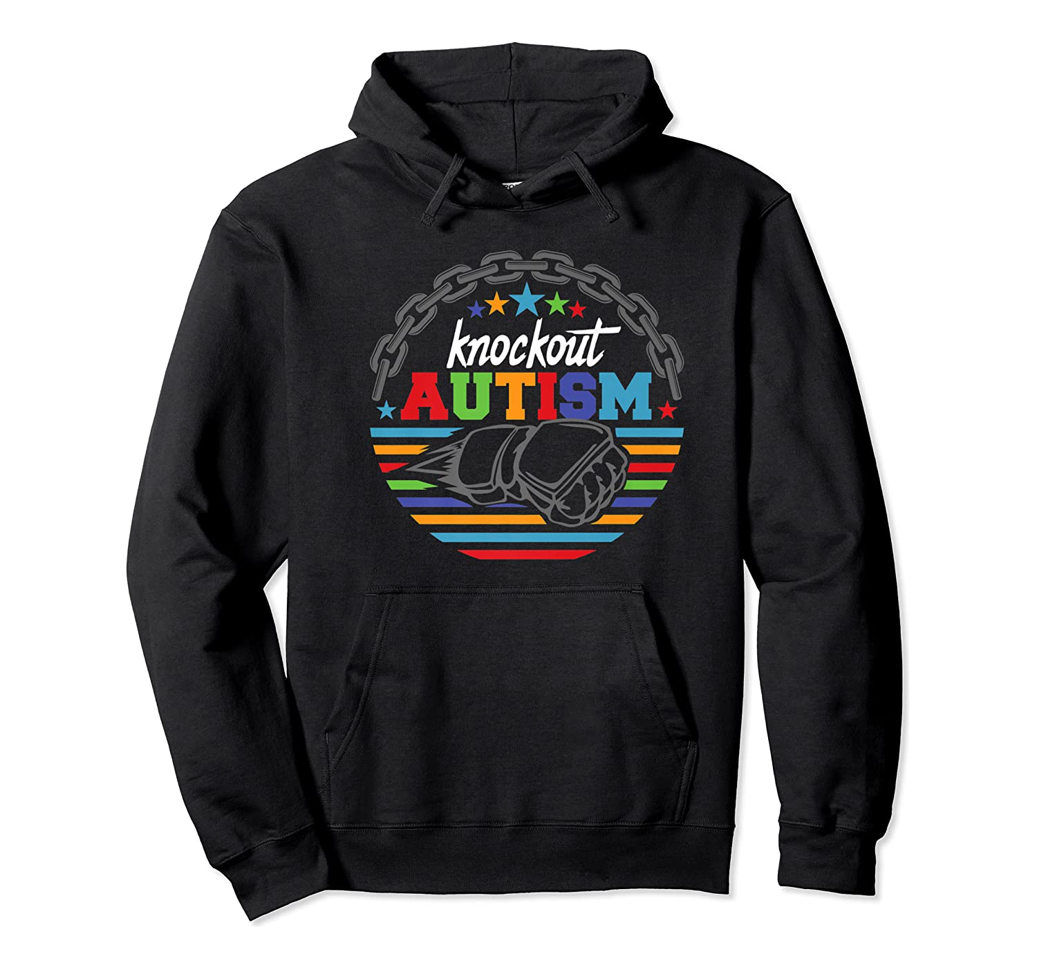 Knockout Autism Awareness Warrior T-shirt Unisex Pullover Hoodie