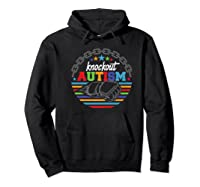 Knockout Autism Awareness Warrior T-shirt Hoodie Black
