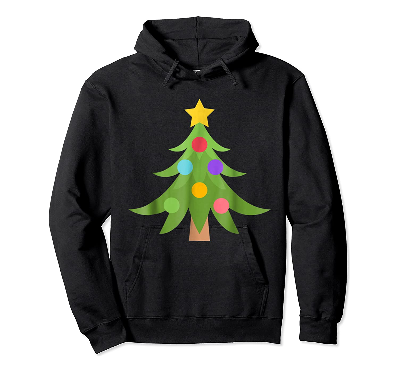 Christmas Tree Emoji Shirts Unisex Pullover Hoodie