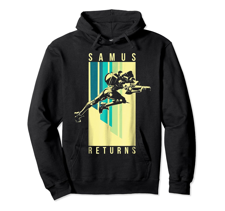 Nintendo Metroid Samus Returns Spotlight Graphic T-shirt Unisex Pullover Hoodie