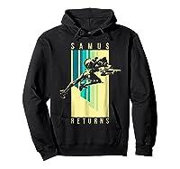 Nintendo Metroid Samus Returns Spotlight Graphic T-shirt Hoodie Black