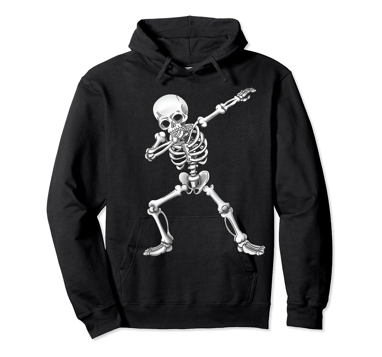 Dabbing Skeleton Halloween Costume Gift T-shirt Unisex Pullover Hoodie