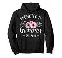 Promoted To Grammy Est 2019 Baby Announce Shirts Hoodie Black