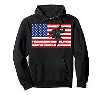 Distressed Judo Gi Usa American Flag Vintage Martial Arts T-shirt Hoodie Black