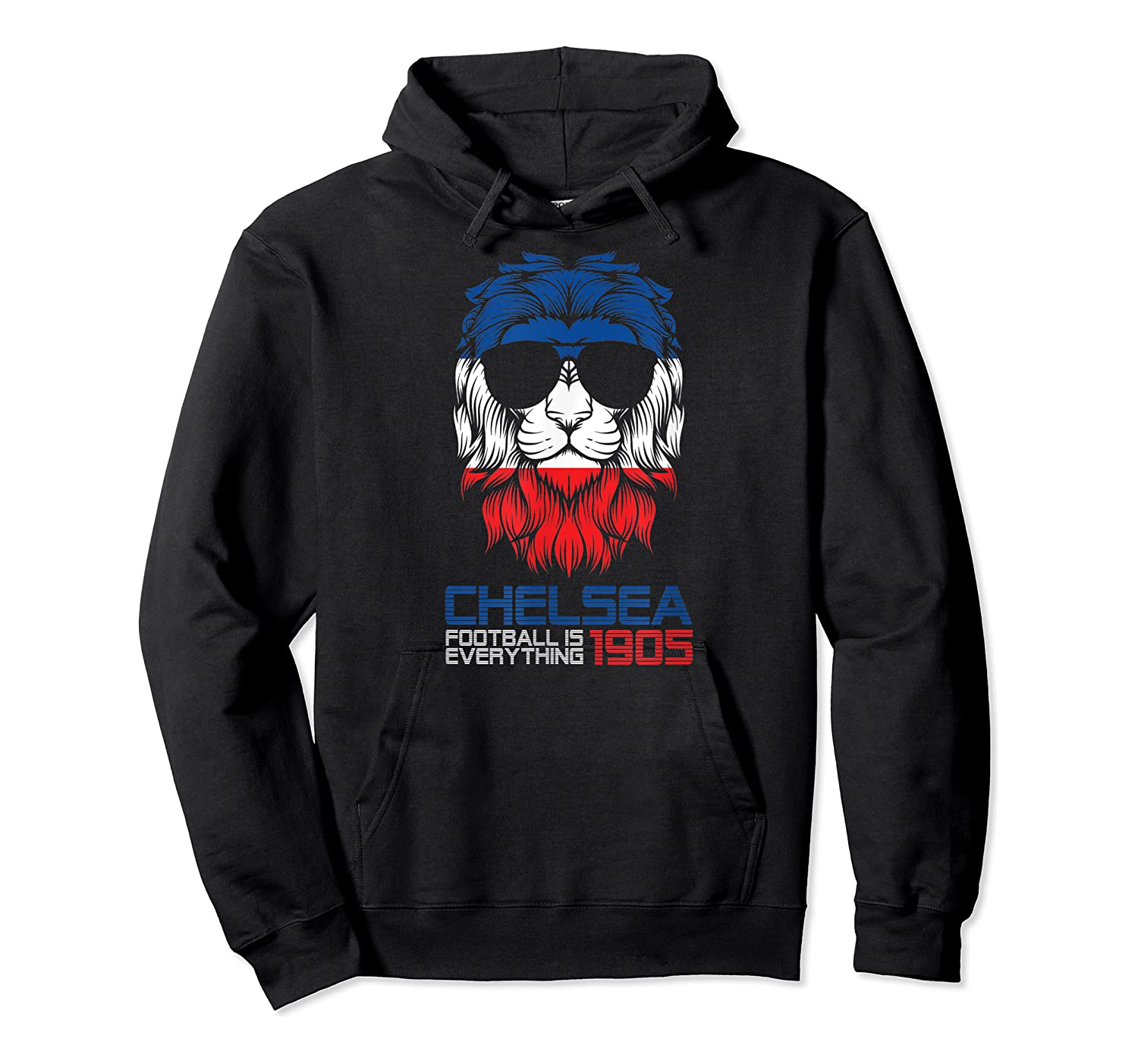 Football Is Everything - Chelsea Lion Pride Retro T-shirt Unisex Pullover Hoodie