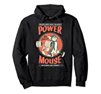 Tom And Jerry Power Mouse T-shirt Hoodie Black