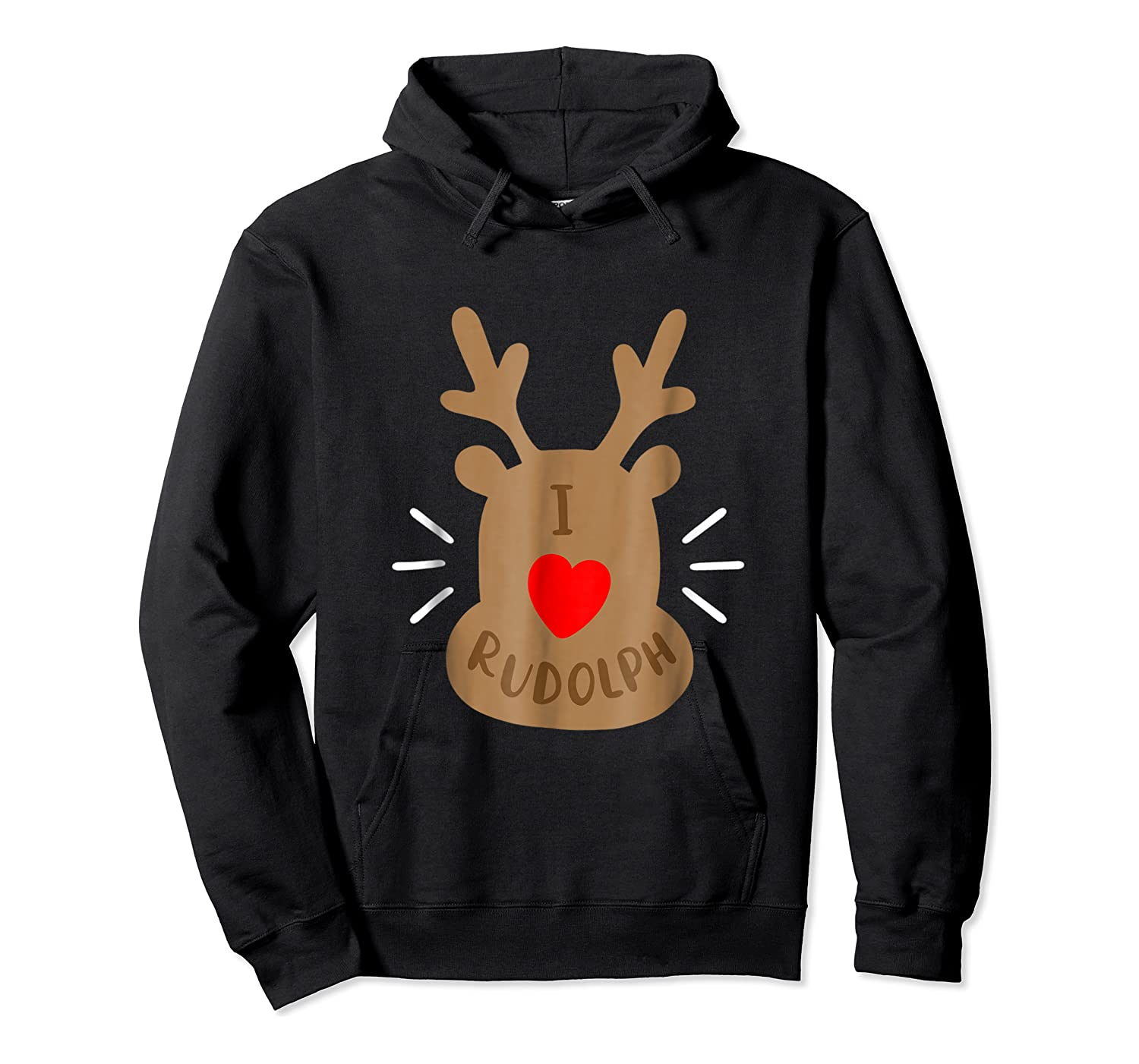 Rudolph Christmas T Reindeer Xmas I Love Rudolph Shirts Unisex Pullover Hoodie