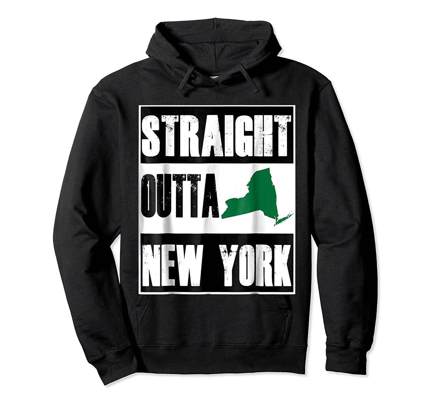 Straight Outta New York Funny Ny Shirts Unisex Pullover Hoodie