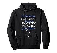 Hockey Mom Funny Distressed Puck Sticks Shirts Hoodie Black