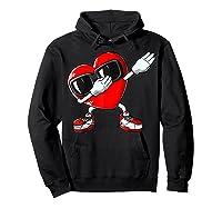 Dabbing Heart Valentines Day Love Dab Dance Gifts T-shirt Hoodie Black