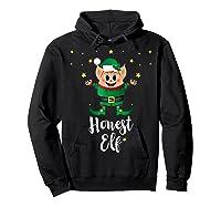 Honest Elf Xmas Elves Matching Family Group Christmas T-shirt Hoodie Black