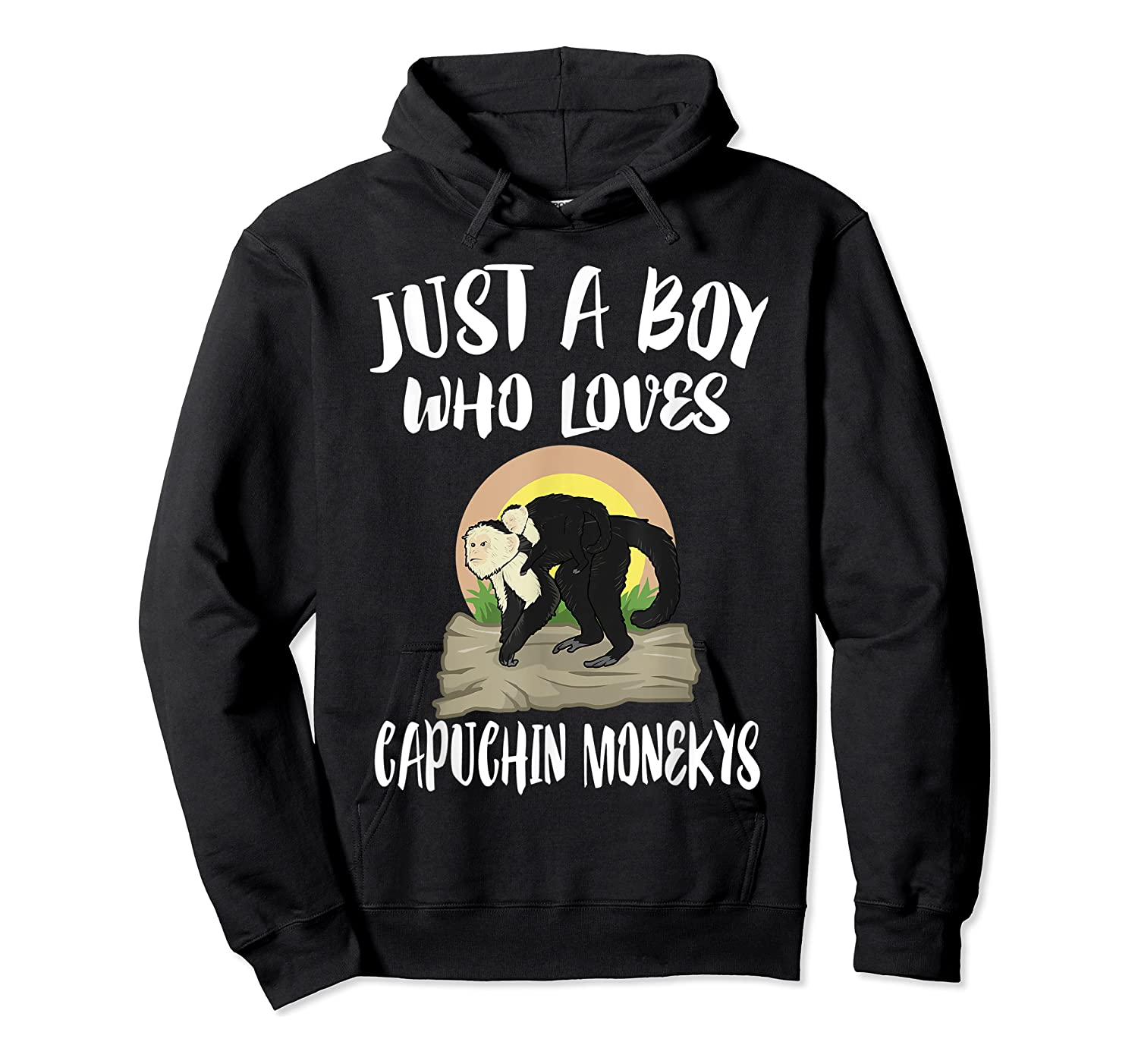 Just A Boy Who Loves Capuchin Monkeys T-shirt Unisex Pullover Hoodie