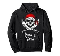 Pirate Yaya Skull And Crossbones Flag T-shirt Hoodie Black