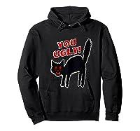 Funny Halloween Scary Black Cat Horror Gift Creepy Black Cat Shirts Hoodie Black