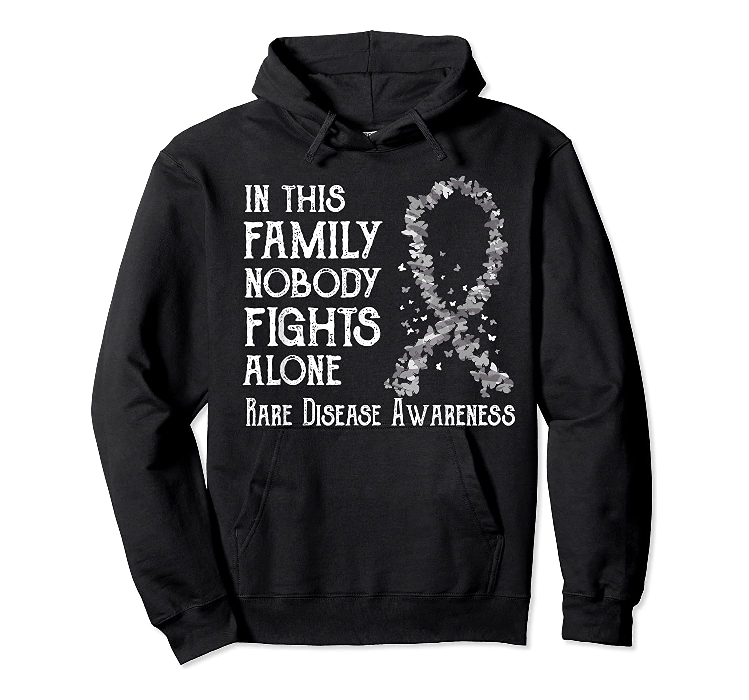 In This Family Nobody Fights Alone Rare Disease T-shirt Unisex Pullover Hoodie